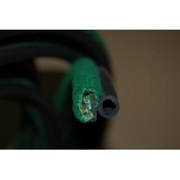 Armé avec tube caoutchouc recouvert-Velours vert- Snap-on -Porte