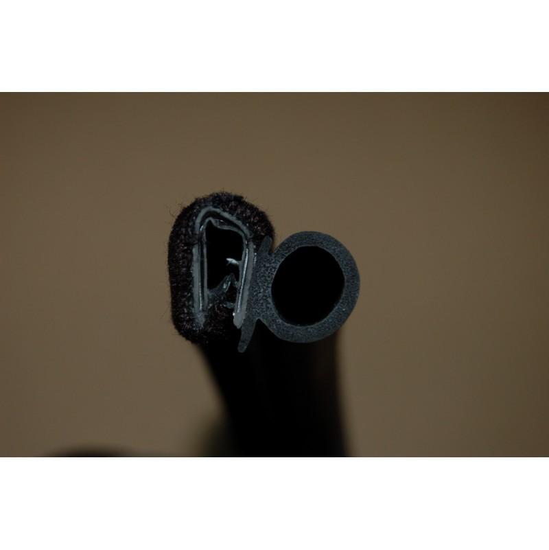 joint de porte pince armée velours noir
