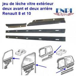 Lèche vitre extérieur Renault 8 & 10