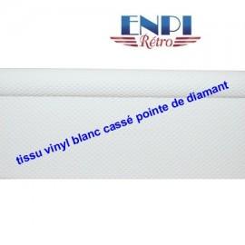 Tissu de ciel de toit en vinyl Blanc cassé Renault 8 Renault 10 & Dauphine