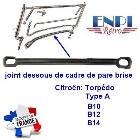 Joint bas cadre de pare brise Citroën  5CV B10 B12 B14