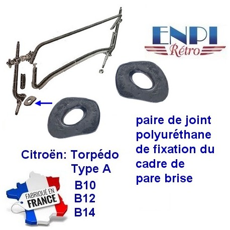 Citroën Tropédo B10 B12 B14 - Joint fixation montant pare-brise