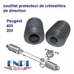 Soufflet crémaillère de direction Peugeot 203 et 403