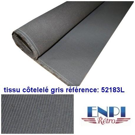 Tissu côtelé gris Peugeot 203 & 403