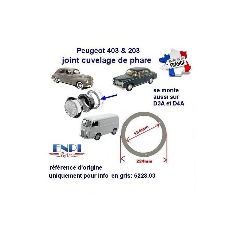 joint de cuvelage Peugeot 203, 403, D3A, D4A