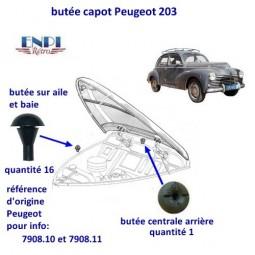 Butée de capot  Peugeot 203