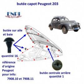 Butée de capot Citroen,Peugeot, Renault,Vespa 400, isetta Velam
