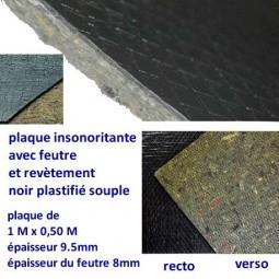 Plaque insonorisante (1m x 0.50m) épaisseur 9.5mm