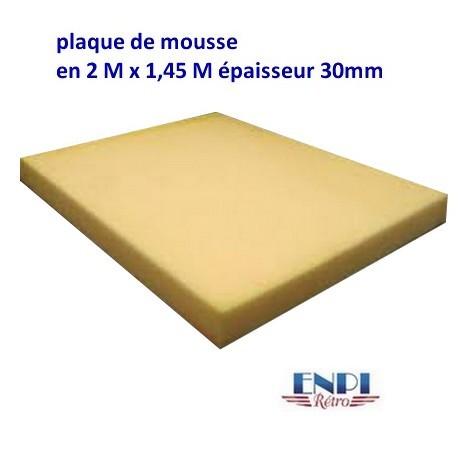 Plaque de mousse épaisseur 30mm (2m x 1.45m)