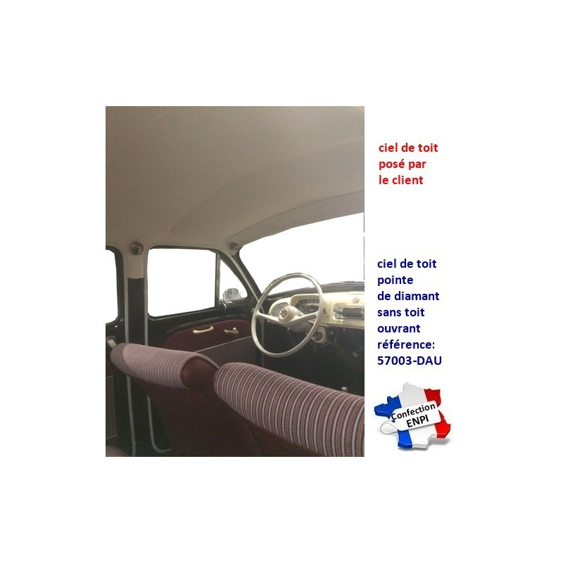 Ciel de toit Renault Dauphine