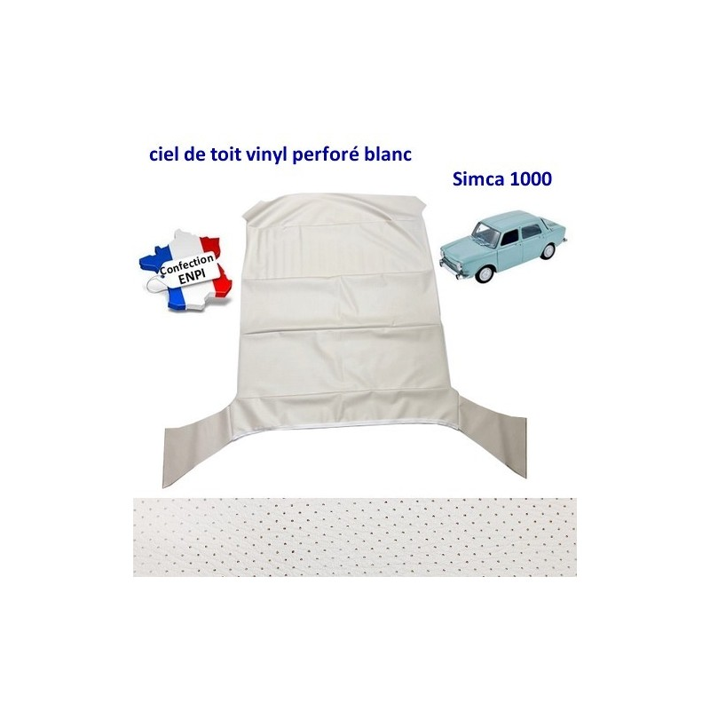 ciel de toit blanc Simca 1000