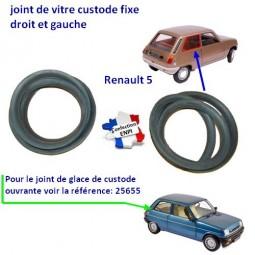Joint de vitre de custode Renault 5