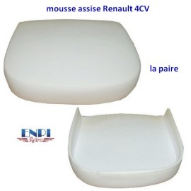 Mousse assise de siège avant Renault 4CV la paire