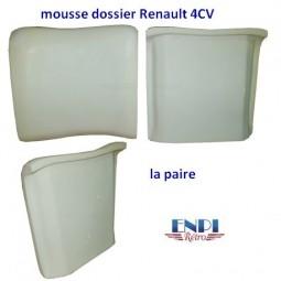 Mousse dossier de siège avant Renault 4CV