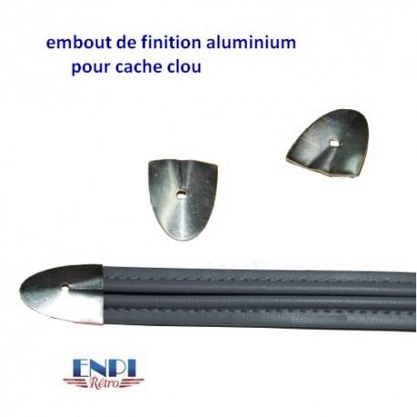 Embout finition aluminium pour cache clou