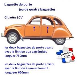 baguettes de portes 2CV Citroën (jeu de 4)