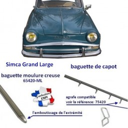 baguette de capot Simca Grand Large