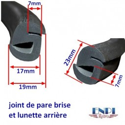 Joint Pare-Brise joint Lunette Arrière