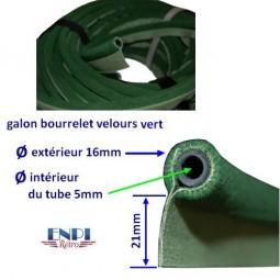 Galon bourrelet velours Vert