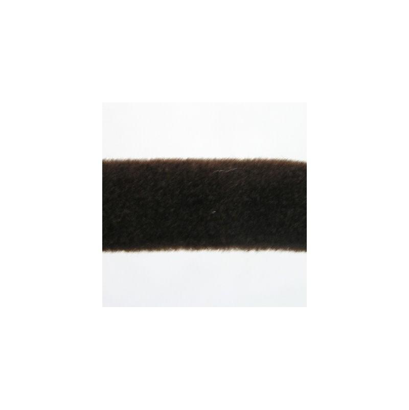 Armé avec tube caoutchouc recouvert-Velours brun- Snap-on -Porte