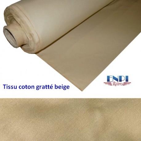 Tissu de ciel de toit en coton gratté beige