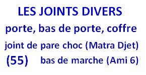 les joints divers